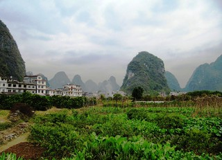 Village set between Boulders, Mountains, and Farms.   by everlutionary