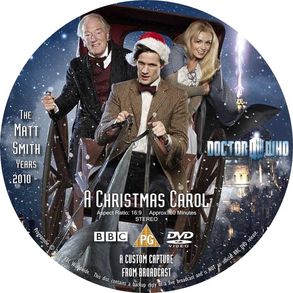 Doctor Who A Christmas Carol DVD label | combomphotos | Flickr