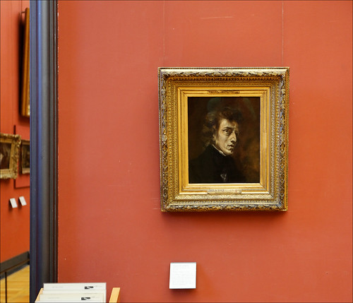 Chopin by Delacroix as displayed in Musée du Louvre   by lsalcedo