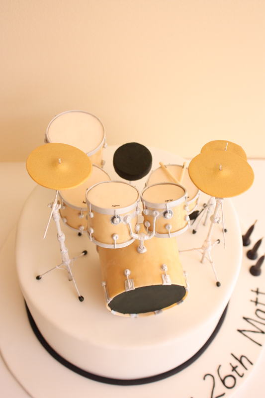 Marvelous Drum Kit Birthday Cake Above A Photo On Flickriver Funny Birthday Cards Online Overcheapnameinfo