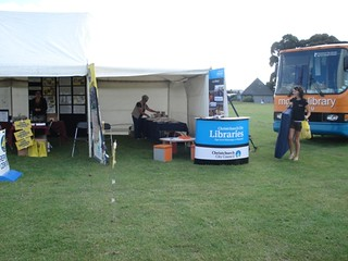 Library tent and Mobile Library at Affirm
