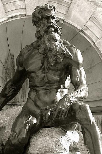 washington dc library of congress fountain man