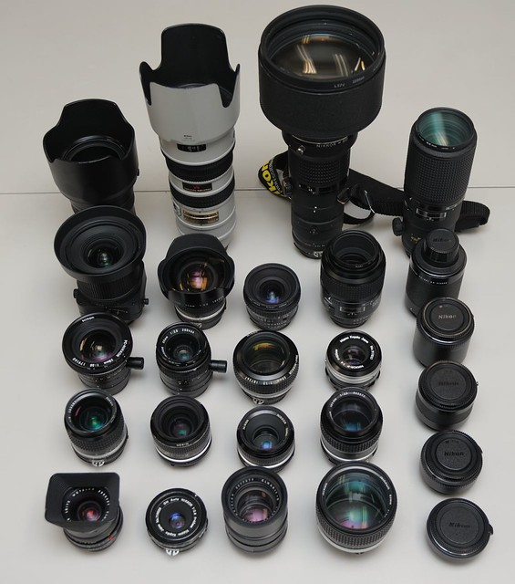 Nikon F mount lenses