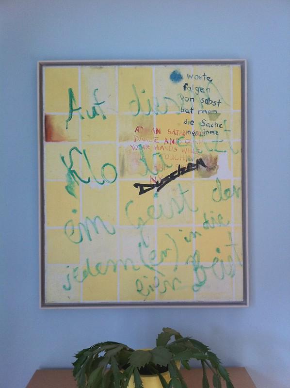 """Adrian Buschmann, Anne Cathrin Ulikowski, Daniel Richter """"wer anderen in die möse beißt ist böse meist"""", 2009"""