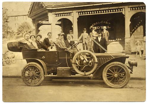 auto car hotel automobile pennsylvania harry charles pa chas kirst sranton stevensduryea
