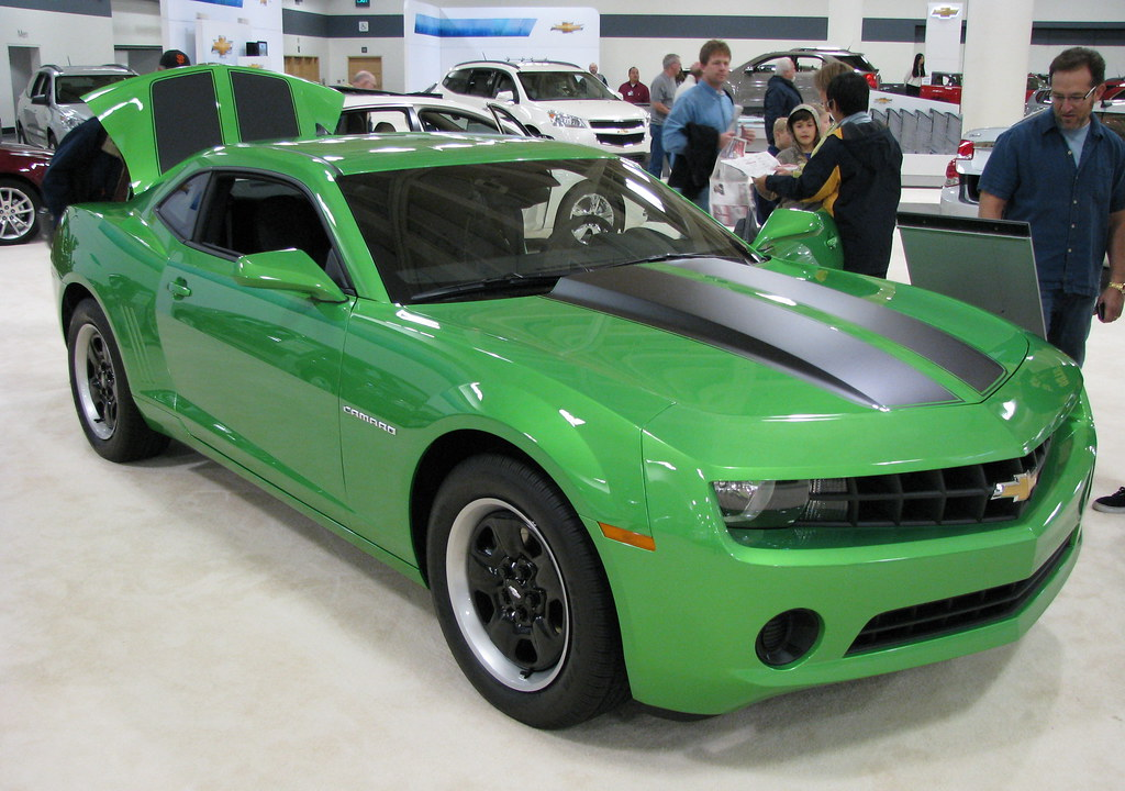 2011 Chevrolet Camaro Ls Coupe With Retro 70 S Green Color