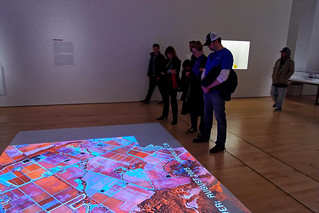 Projected Image of Vineyard Analysis, How Wine Became Modern Exhibition at the SF MOMA | by CT Young