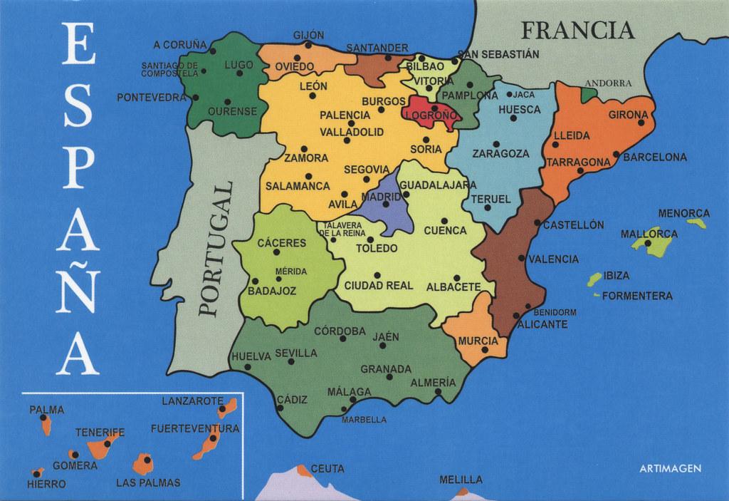 Map Of Spain Zamora.Map Of Spain Map Of Spain The Map Shows The Autonomous Co Flickr
