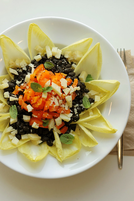 Black beans, Carrots and White Chicory