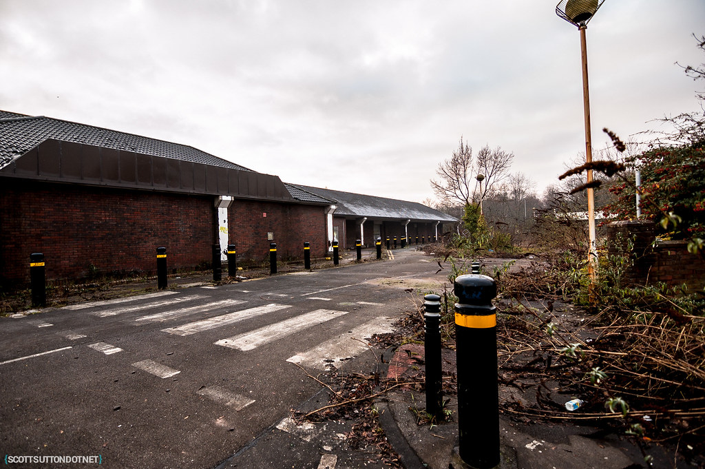 Abandoned Sainsburys store in Newport, South Wales