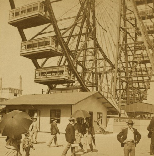 (animated stereo) The First Ferris Wheel, 1893 | by Thiophene_Guy