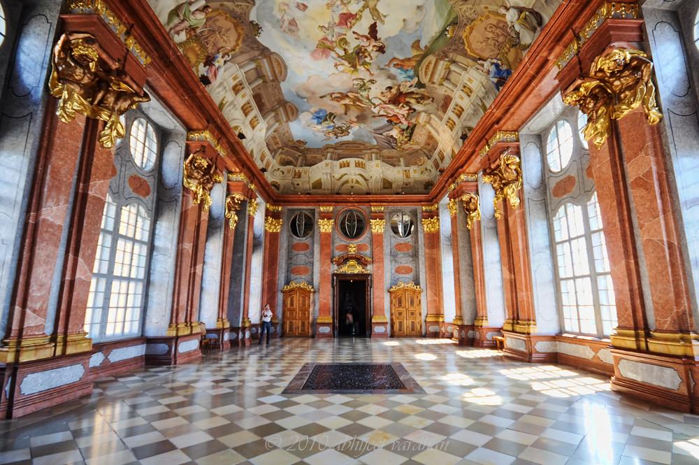 Melk Abbey Interior The Hall Melk Abbey Or Stift Melk