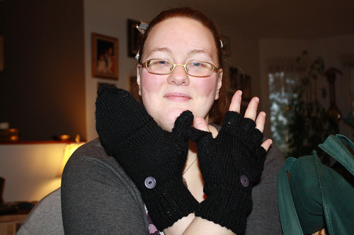 Kim with fabulous Ari-made Smart Gloves | by notamaiar