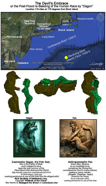 Reclining Fish-Devil or Fertility God embracing Female on the Ocean Floor: Canaanite