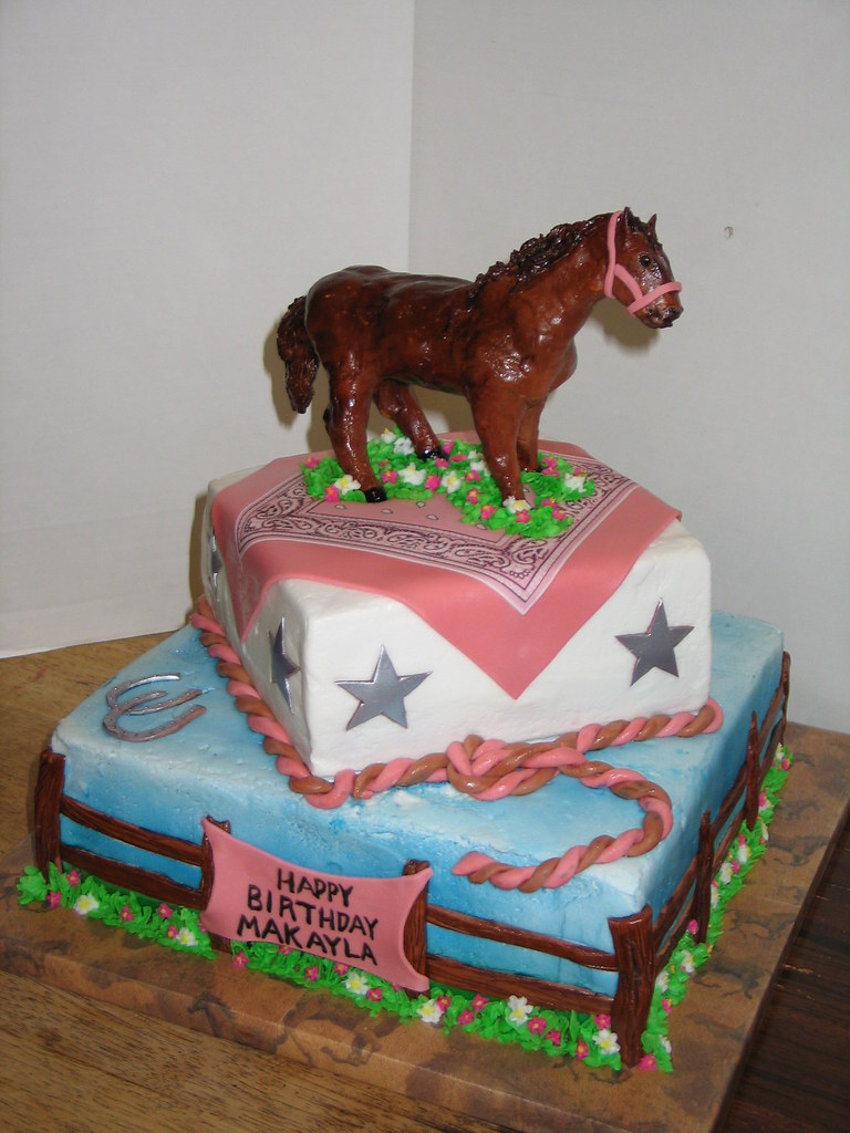Terrific Horse Themed Birthday Cake The Horse Was Sculpted From Gum Flickr Funny Birthday Cards Online Alyptdamsfinfo