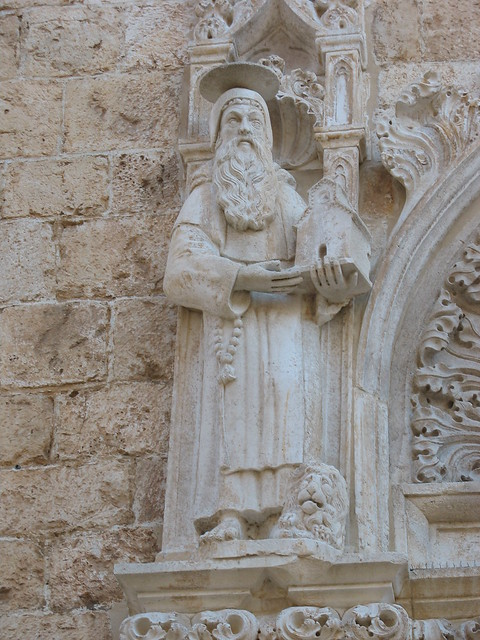 Detail, entryway of the Franciscan Monastery