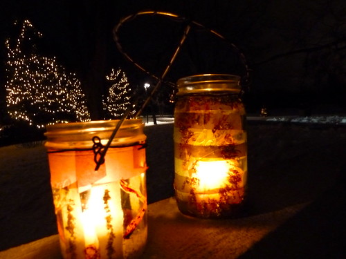 What better way to experience Lynden in the winter than by lantern light? Visitors of all ages enjoy designing and decorating lanterns made from recycled jars and tea light candles. Embellishments include tissue paper collage, punched-tin lids, and wire handles.  After creating lanterns in the studio, join in a lantern-lit walk through the snow-covered sculpture garden to test them out.  Once back inside, hot cider, cookies and conversation help warm everyone up. Miss the event?  Join us next year.  Join our e-list for information on our upcoming workshops!