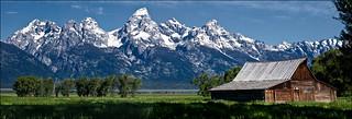 Barn, Mormon Row, Jackson Hole, Wyoming   by alh1