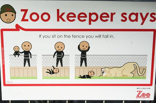 If you sit on the fence you will fall in.