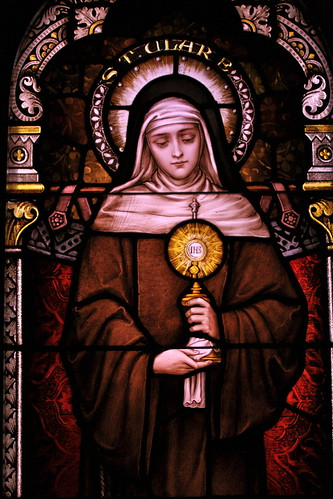 Sr. Mary's stained glass collection - St. Clare | by kevin dooley