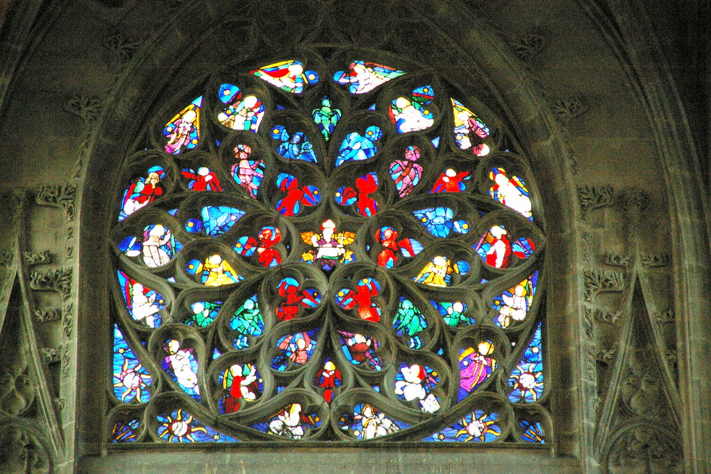 Image result for St. Malo in Rouen rose window