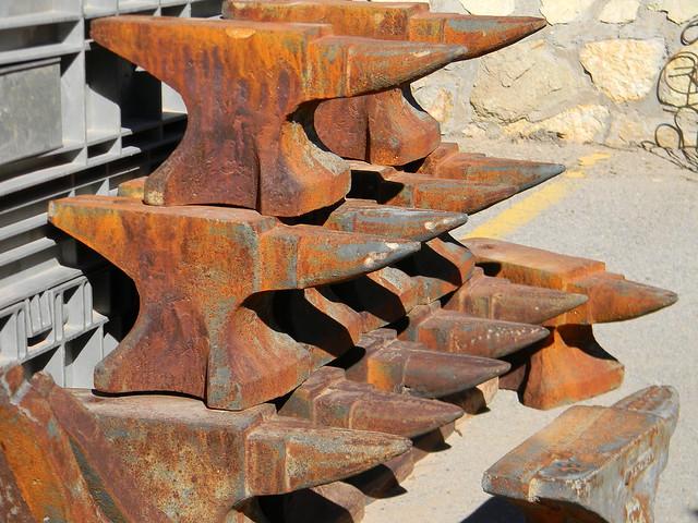 pile of anvils