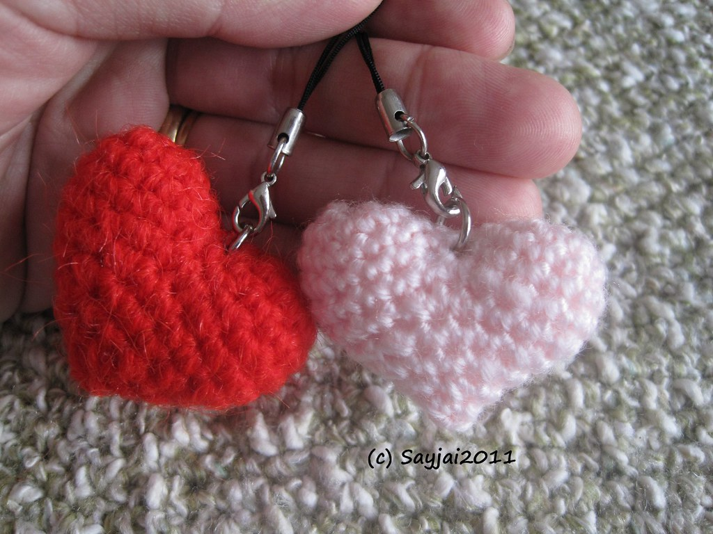 Happyamigurumi: Preparations for Valentine´s Day: Crochet Heart ... | 768x1024