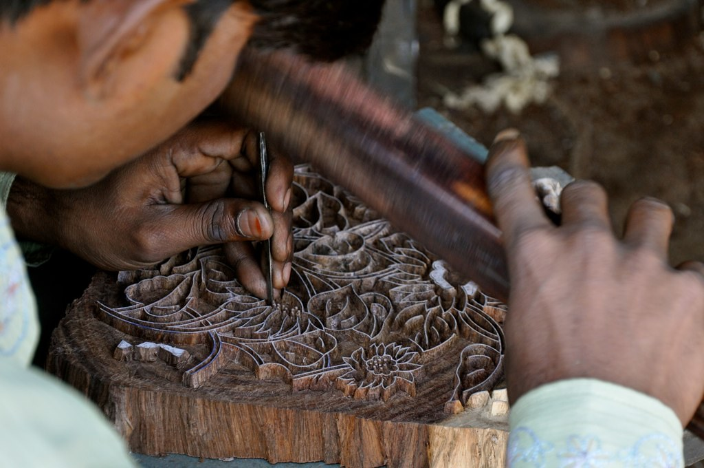 Making wooden block design...jaipur,Rajasthan | creating woo… | Flickr