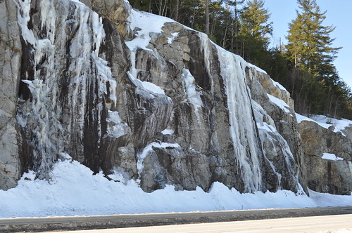 road snow ice highway rocks snowy newengland newhampshire nh cliffs february icy alton coldwinter route11 lakewinnipeaukee
