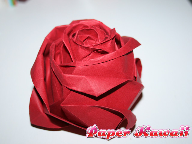 Origami Kawasaki Rose · How To Make An Origami Flower · Papercraft ... | 480x640