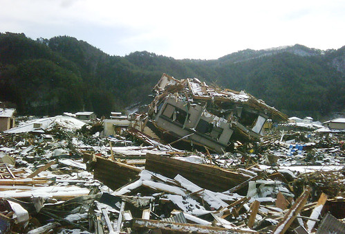 House turned upside-down by the force of tsunami | by DFID - UK Department for International Development