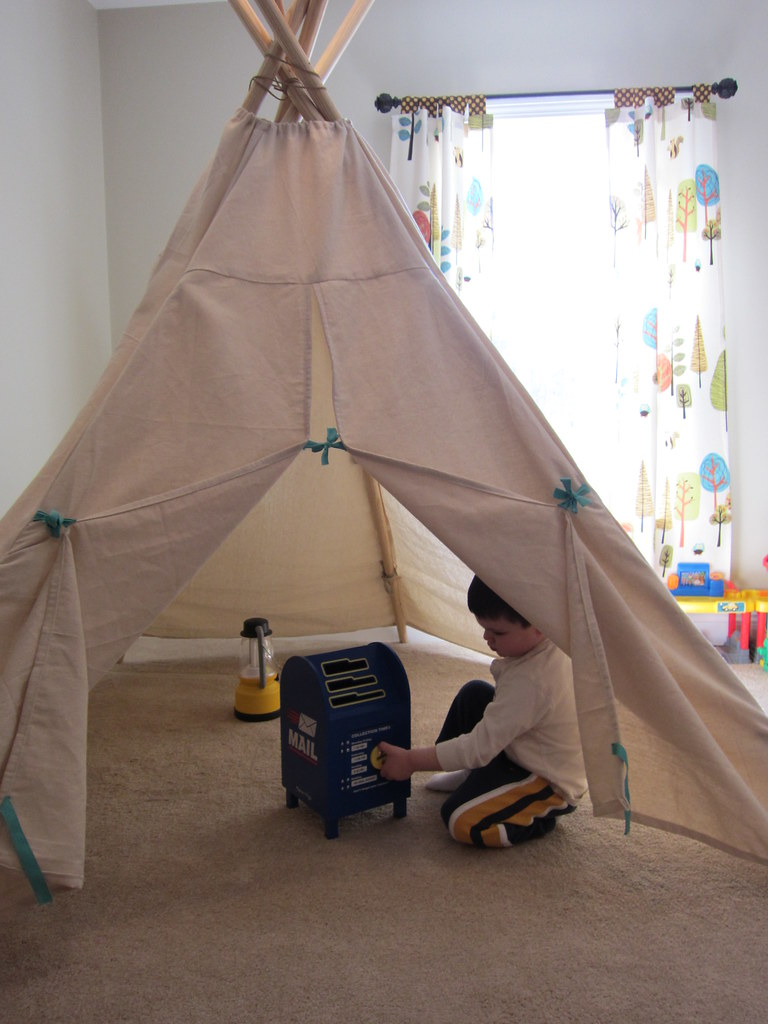 The TeePee | DIY No Sew Teepee Tent Project Perfect As Gift For Your Kids