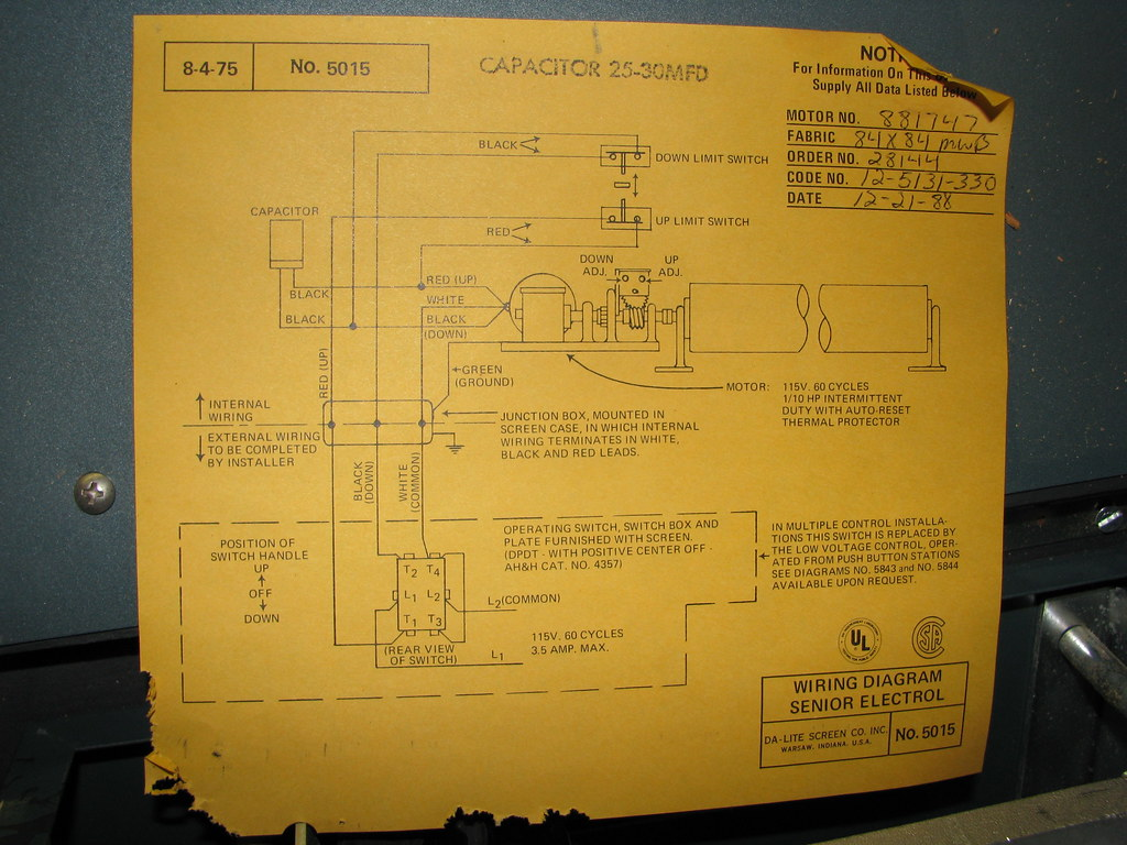 Motorized Projector Screen - Wiring Diagram | The screen its ... on