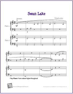 Swan Lake (Tchaikovsky) | Beginner Piano Duet Sheet Music … | Flickr