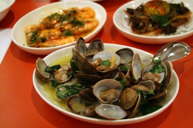 Dorset clams, lemon and coriander at Brawn, London