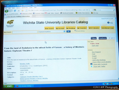 Library Catalog Entry