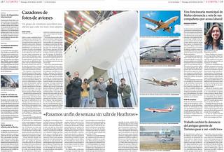 Cazadores de fotos de Aviones. La Voz de Galicia. Edición de A Coruña. 20/02/2011 | by joseluismaquieira