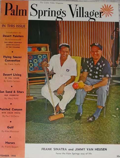 Frank Sinatra & Jimm Van Heusen Palm Springs Villager Cover: September 1956