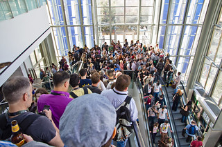 Crowds in escalator @ SXSW 2011 | by inUse Experience