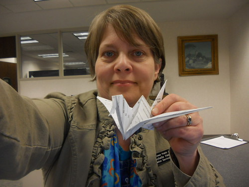 Tax form origami gift--Daily image 2011--March 12 | by Rochelle Hartman