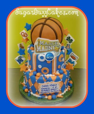Wondrous March Madness Basketball Birthday Cake Carol Flickr Birthday Cards Printable Nowaargucafe Filternl