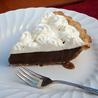 Caramel-Bottomed Guinness Chocolate Pie | by djwtwo