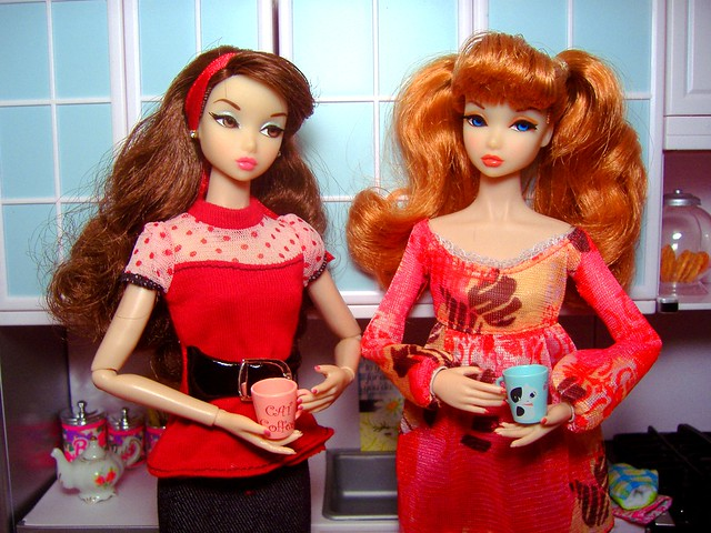 Penelope & Summer in kitchen #2