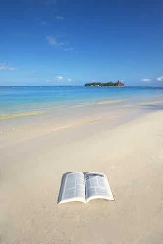 blue beach island sand paradise christ god sandals faith religion jesus jamaica bible caribbean montegobay newtestament riumontegobay romans2