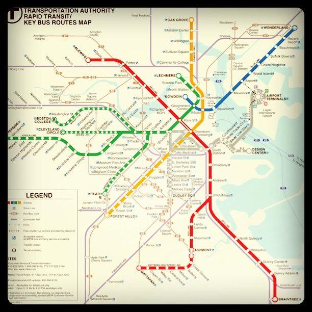 Subway Map In Boston.Subway Map Mta Boston Subwaymap Metro Transit T Flickr