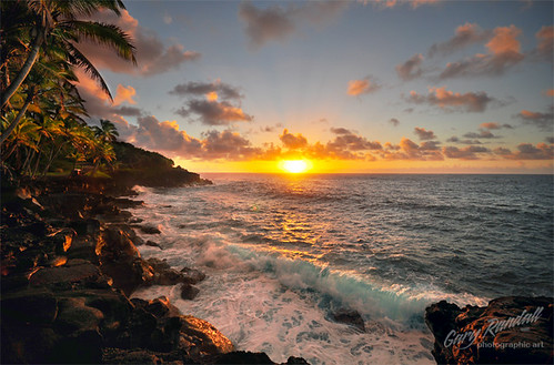 ocean morning sunrise hawaii waves wave palmtrees mikeandmel garyrandall dsc18752 mikemelwed