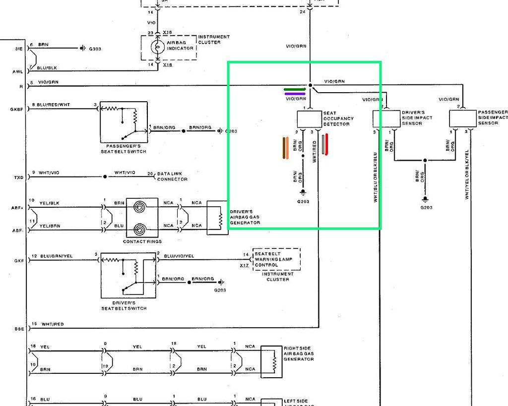 Airbag Wiring Diagram - Occ Sensor | Alex K | Flickr on