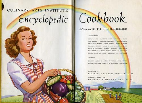 ephemera - Encyclopedic Cookbook, 1948, Title Page