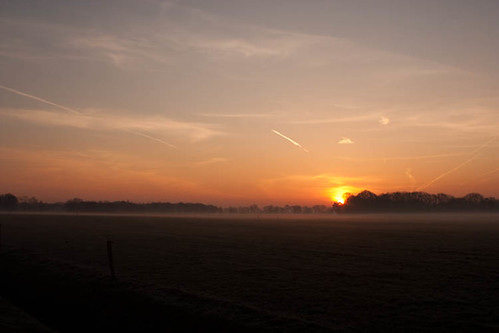 sunrise landscape morninglight ochtend landschap reutum ochtendzon