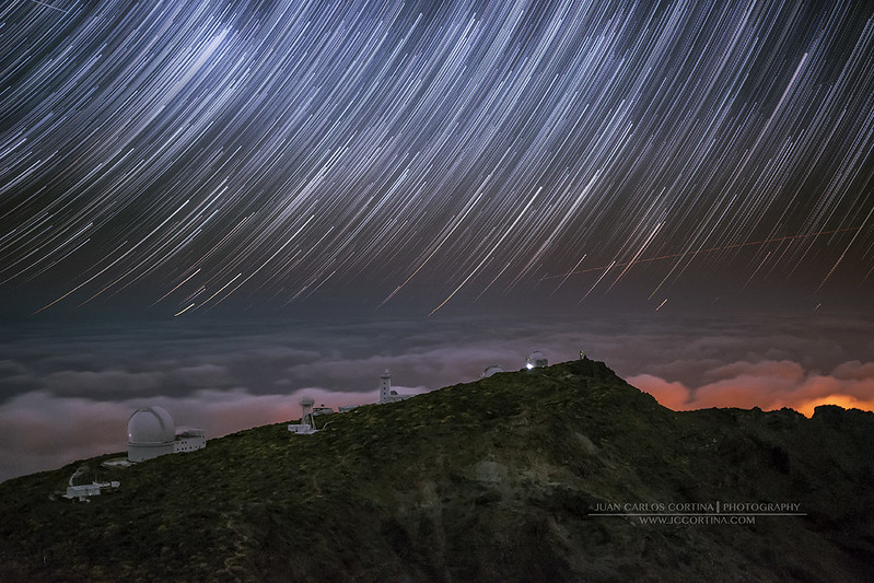 Star Trail en La Palma